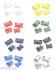 2 Stück Steckschließer 25mm (0,50€/Einheit) - weiß, schwarz, rot...