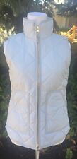 J.CREW NEW M Excursion Vest Light Gray Most Quilted Down Puffer NWT