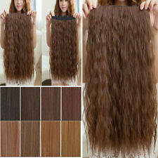 """22"""" Long Thick Corn Wave Clip In Hair Extensions 1PC Curly Wavy as Natural UK"""