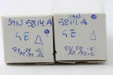 2 X JAN 5814A TUBE G.E. SOLID GETTER DELTA CODE. MATCHED PAIR. CRYOTREATED V32