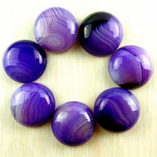 Wholesale 7pcs 18mm Pretty Purple Onyx Agate Round Cab Cabochon AYJM11