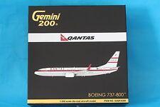 Brand New Gemini Jets Qantas Boeing 737-800 Retro Roo II 1:200 G2QFA580 VH VXQ