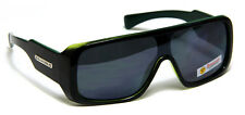 Aviator Sunglasses Men Women Shield Flat Top Turbo Black Green