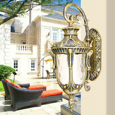 1 PC European Vintage Outdoor Antique Single Light Wall Lamp Glass + Aluminum