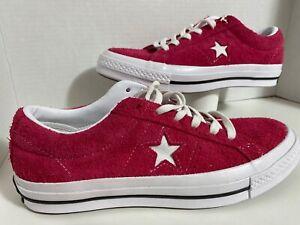 Converse Unisex One Star Vintage Suede Low Top pop pink 162575C New Size 7.5 Men
