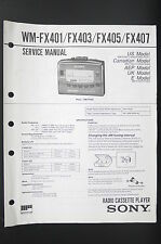 Sony wm-fx401/fx403/fx405/fx407 Walkman Service-Manual/Schema elettrico Diagram/81