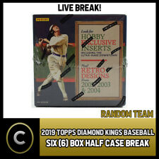 2019 PANINI DIAMOND KINGS BASEBALL 6 BOX HALF CASE BREAK #A218 -  RANDOM TEAMS