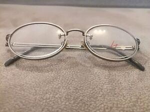 yohji yamamoto Vintage OVAL Eyeglasses Frames 51-5107 Color Silver Elements