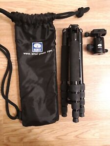 SIRUI T-005KX Camera Tripod Ultra Light Travel with C10 Ball Head Kit Case Black
