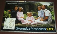 Swedish Booklet of Postage Stamp Set (53 Stamps) From 1986