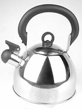 Whistling stainless steel silver kettle whiseling gas electric 2.5ltr hob chrome