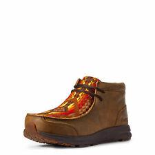 Ariat 10031637 para hombres Cuero Marrón Bombardero Spitfire Moc Toe Zapatos Con Cordones Casual
