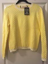 NWT MARNI Long Sleeve Yellow/ Creme, Polyamide, Cotton, Elastin Sweater Size 40