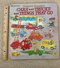 Richard Scarry Cars And Trucks And Things That Go Golden Book 1974