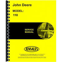 Service Manual Fits John Deere 110 Lawn & Garden Tractor SN 250 001 & Up