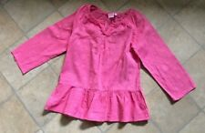 Girls Laura Ashley coral pink long sleeve tunic top age 5-6 years vgc