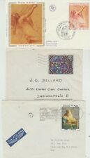 France  1973 FDC Art issue, 1965,83 covers with Art stamps as postage