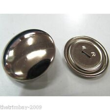 Metal Self Cover Buttons ,11mm, 15mm, 19mm, 23mm, 29mm, 38mm Free UK Postage