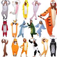 Hot Unisex Adult Pajamas Kigurumi Cosplay Costume Animal One-pieces Sleepwear