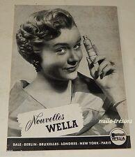 Revue 1955 Nouvelles WELLA N°13 Produits & Accessoires pour les cheveux Vintage