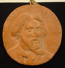 Médaillon terre cuite Alphonse Daudet Saint-Rémy de Provence Medal 铜牌 Médaille