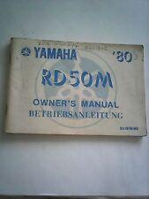 YAMAHA RD50M 1980 GENUINE OWNERS MANUAL