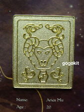 Bandai Saint Seiya Saint Cloth Myth Series Aries Mu Gold Metal Plate