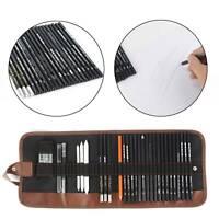Professional Sketching Drawing Art Pencil Kit Set Graphite Charcoal Stick Artist