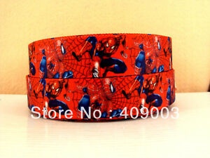 """Spiderman Ribbon 1"""" (25mm) Wide 1m is only £1.49 NEW FREE P&P"""