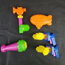 Complete set of 4+1 Slime Microphone Blimp Trumpet Clapper McDonalds Nickelodeon