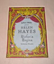 Victoria Regina Gilbert Miller Helen Hayes Vincent Price Broadhurst Theatre NY