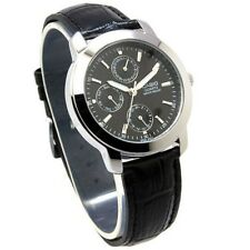 Casio MTP1192E-1A Day Date Analog Quartz Black Dial Leather classic Gent's Watch