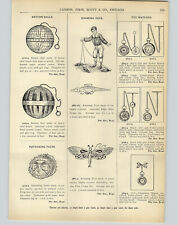 1905 PAPER AD Tin Toys Roaming Alligator Rat Butterfly
