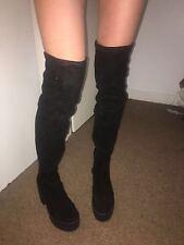 Topshop Zip Suede Boots for Women