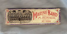 #D200. BOXED MARINE BAND HOHNER MOUTH ORGAN HARMONICA
