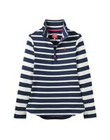 Joules Ladies Fairdale Half Zip Long Sleeve Sweatshirt in Navy Stripe