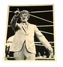WWF WWE THE GRAND WIZARD HAND SIGNED AUTOGRAPHED PHOTO WITH INSCRIPTION AND COA