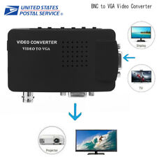 NEW BNC to VGA Video Converter Adapter 800x600-920x1200 Upscaler Mini Composite