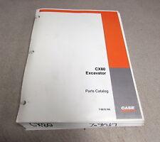 Case CX80 Excavator Parts Catalog Manual 7-9610 2004