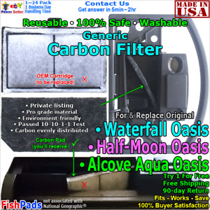 For Alcove Oasis,Half Moon Oasis,Water Fall Aqua Oasis Compatible Carbon Filter