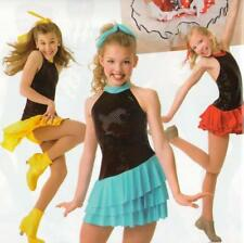 Scream and Shout RED and BLACK Dance Costume Tap Baton Dress Child X-Small