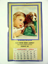 "1964 Blue Ridge News Agency ""Two Cuties"" Frederick Md Advertising Calendar"