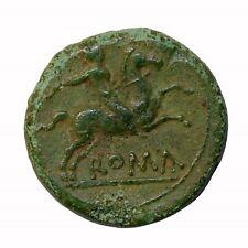 Roman Republic 217-215 Bc Anonymous Ae Semuncia Compania Ancient Roman Coin