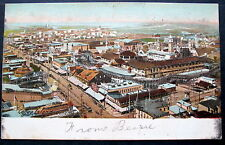 CONEY ISLAND NY  VIEW w/ two rollercoasters 1905 GLITTR