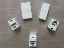 5x RJ45 Ethernet dritto Accoppiatore CAT5e 6 CABLE Joiner presa femmina connettore