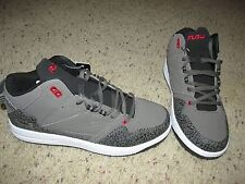 Mens Boys FUBU The Collection Pressure Athletic Shoes Charcoal Black Red 6M