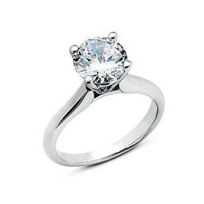 Diamant Ring Weißgold 18K Brillant Solitär 0,75 ct. Manufaktur Wesselton SI Neu