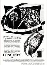 Publicité ancienne montres Longines 1955 issue de magazine