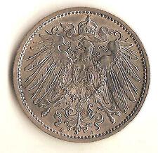Silberne Stempelglanz 1 Markmünzen aus dem Deutschen Kaiserreich (1891-1916)