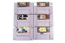 Super Nintendo SNES (6) Games ~ Pitfall Mechwarrior Out of This World Demolition